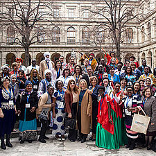 Participants of the Global Women's Forum for Peace and Humanitarian Action in Vienna